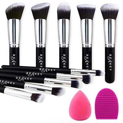 BEAKEY Synthetic Kabuki Foundation Face Brushes