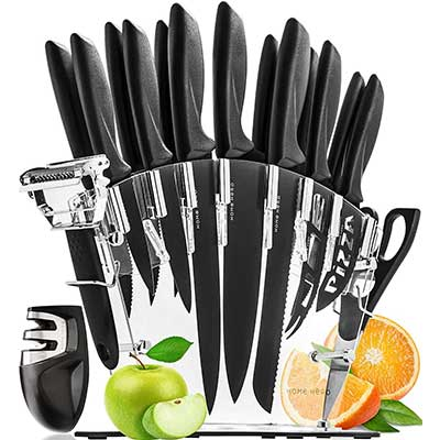 Home Hero Stainless Steel Kitchen Knives 17 Piece