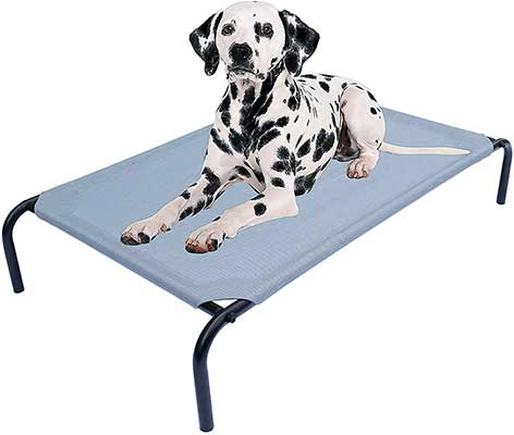 PHYEX Heavy Duty Steel-Framed Portable Elevated Dog Bed