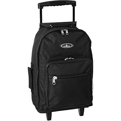 Everest 1045m Wheeled Backpack – Standard, Black, One Size
