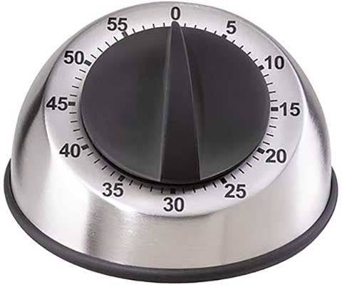 Oggi Countdown Stainless Steel 60-Minute Kitchen Timer