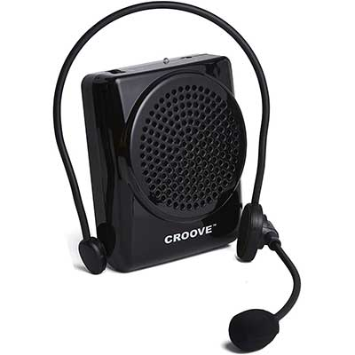 Croove Rechargeable Voice-Amplifier, with Waist/Neck Band&Belt-Clip