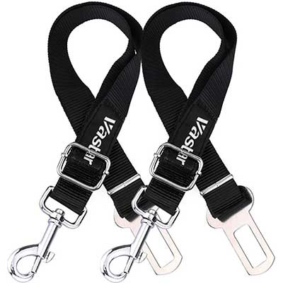 Vaster 2 Packs Adjustable Pet Dog Cat Car Seat Belt