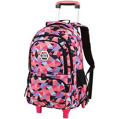 VBG VBIGER Rolling Backpack for Girls