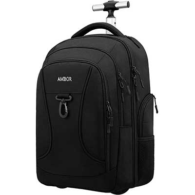 Rolling Backpack, Wheeled Laptop Backpack for Travel
