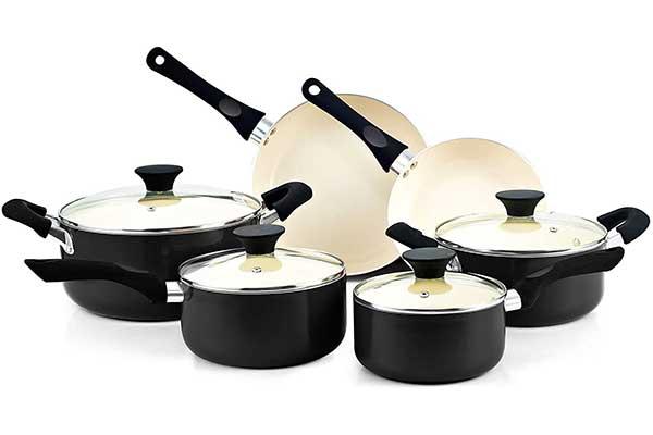 Cook N Home Ceramic Coating Cookware Set