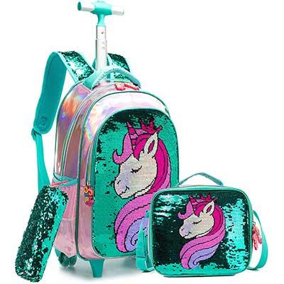 Girls Rolling Backpack Kids Backpacks with Wheels