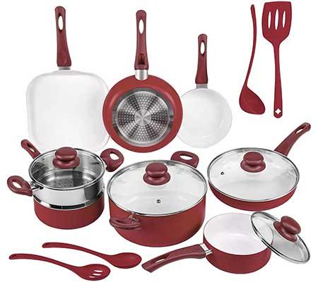 Ivation Ceramic Cookware Set, 16-Piece