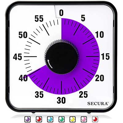 Secura Kitchen Timer 60-Minute Mechanical Visual Timers