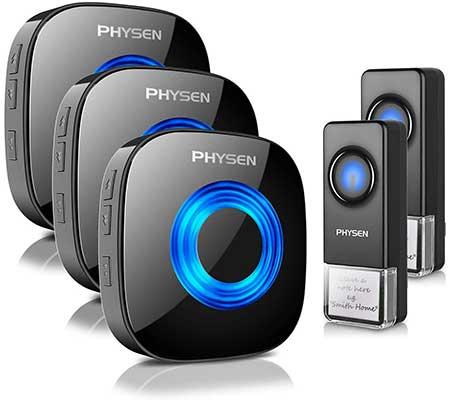 Wireless Doorbell PHYSEN Door Bell Ringer Wireless