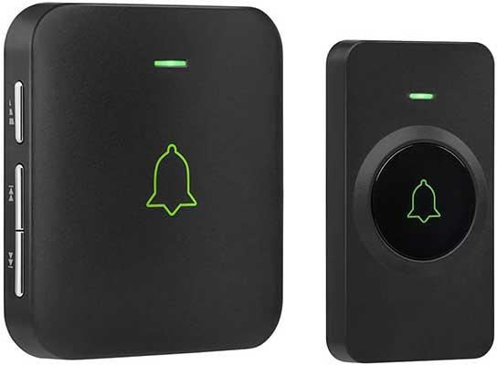 Wireless Door Bell, AVANTEK Mini Waterproof Doorbell