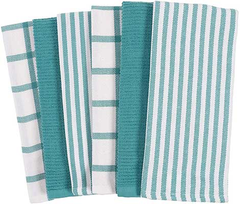 KAF Home Mixed Flat and Terry Kitchen Towels