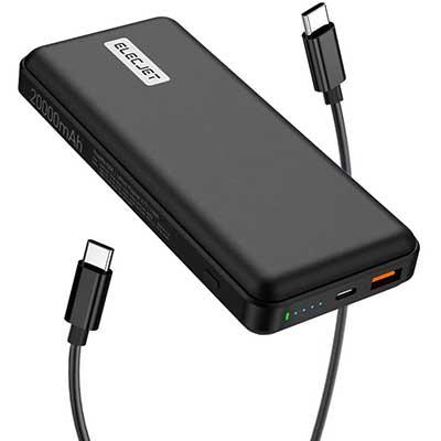 ELECJET PowerPie 20000mAh USB C PD 45W Laptop Power Bank