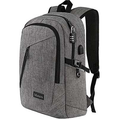 Mancro Laptop Backpack, Business Water Resistant Laptop Bag