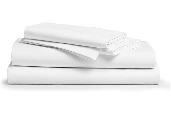 Queen Comfy Sheets White Long Staple Pure Egyptian Cotton