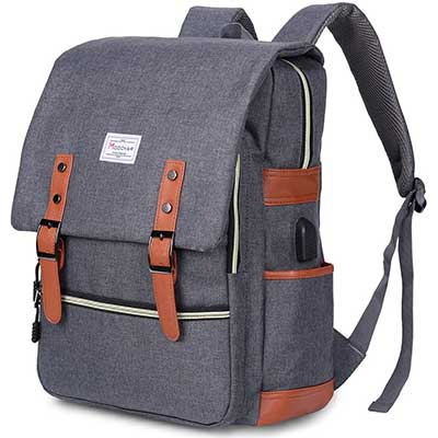 Modoker Vintage Laptop Backpack for Women Men