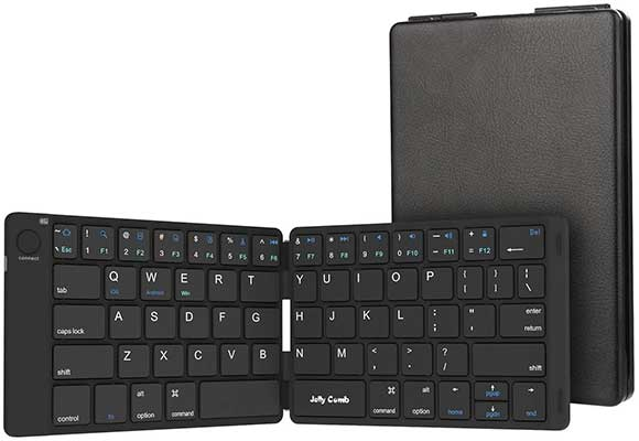 Foldable Bluetooth Keyboard, Jelly Comb Ultra-Slim Foldable