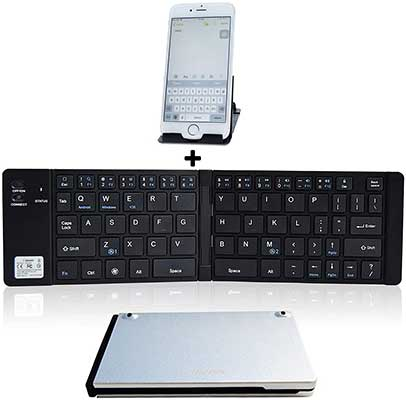 Folding Keyboard Bluetooth, Geyes Wireless Portable Foldable keyboard