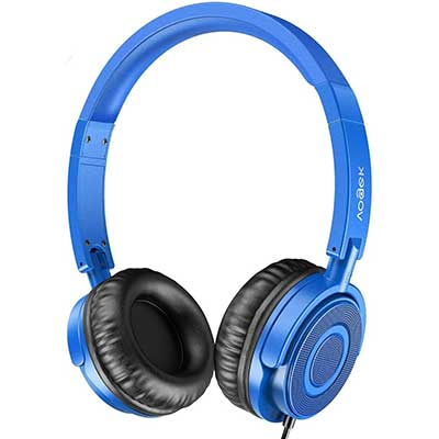 Kids Headphones with Microphone, Vogek Portable Foldable Headsets