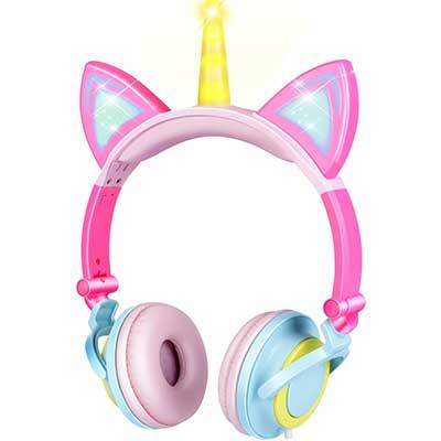 GBD Unicorn Kids Cat Ear Headphones for Girls Boys