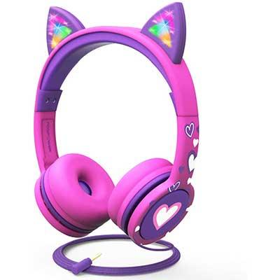 FosPower Kids Headphones with LED Light