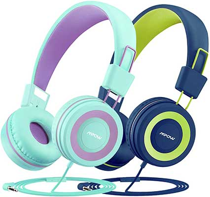 Mpow CH8 Kids Headphones with Microphone 2 Pack