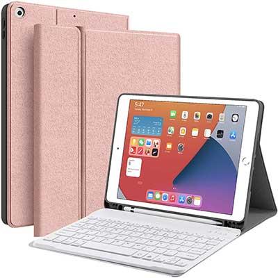 JUQITECH iPad 10.2 8th 7th Generation Keyboard Case