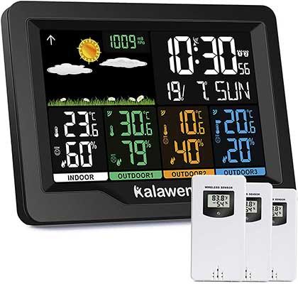 Kalawen Weather Station Wireless Indoor Outdoor
