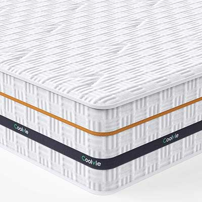 Twin Mattress, Coolvie 11 Inch Memory Foam, and Innerspring Hybrid Mattress