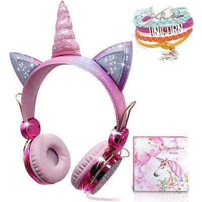 Unicorn Kids Headphones for Girls Children Teens
