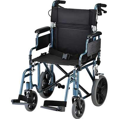 NOVA Lightweight Transport Chair with Locking Handbrakes