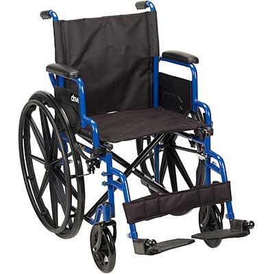 Drive Medical Blue Streak Wheelchair with Flip Desk Arms
