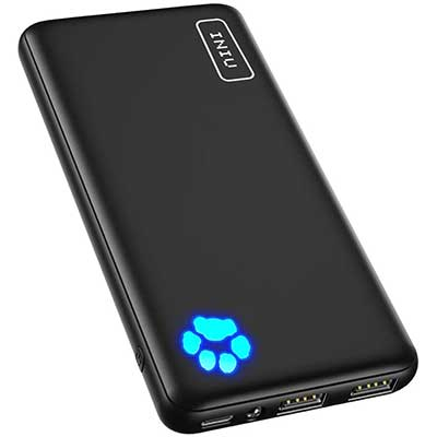 INIU Portable Charger, USB C Slimmest, and Lightest Triple 3A