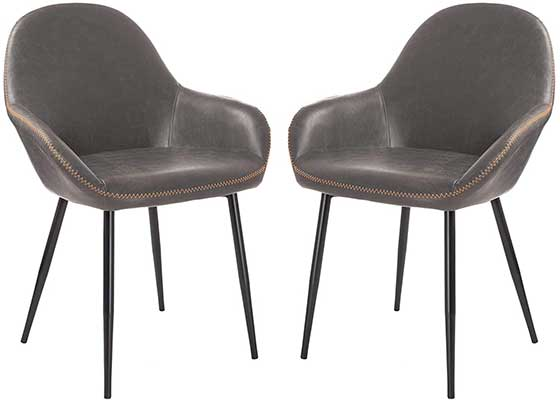 Glitzhome Mid-Century Dining Chair Set of 2