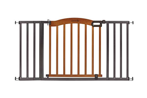 Summer Decorative Wood and Metal Baby Gate