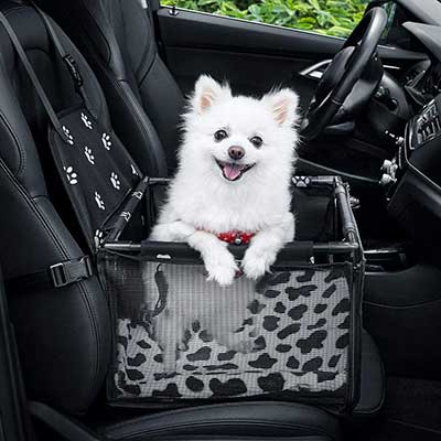 GENORTH Dog Car -Seat Upgrade Deluxe Washable Portable Pet Car -Booster