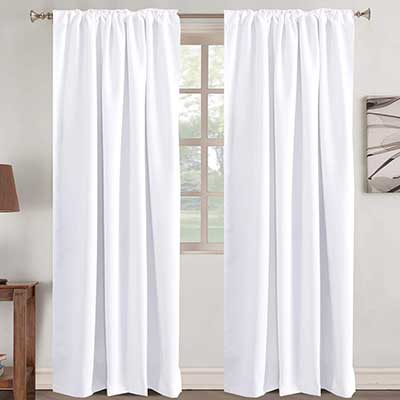 Window Treatment Curtains Insulated Thermal White Curtains