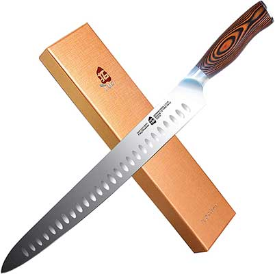 TUO Slicing Knife 12-inch, Granton Carving Knives