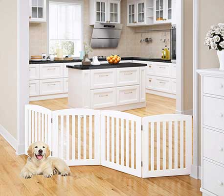 PAWLAND Wooden Foldable Pet Gate