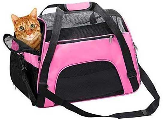 TIYOLAT Pet Carrier Bag, Airline Approved Duffel Bag