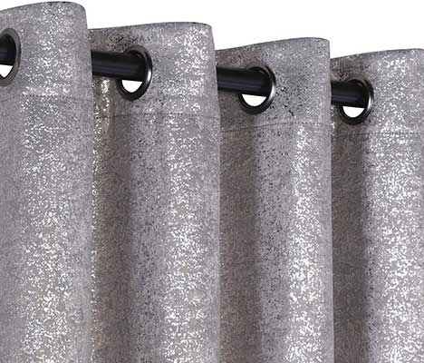 GoodGram 2 Pack Sparkle Chic Thermal Blackout Curtain Panel
