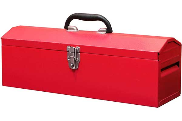 """BIG RED TB101 Torin 19"""" Hip Roof Style Portable Steel Tool Box"""