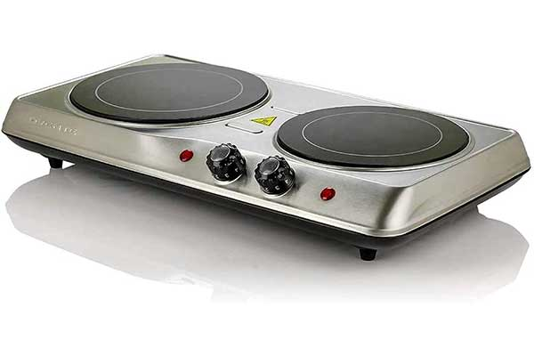 Ovente Double Hot-Plate-Electric Countertop Infrared Stove
