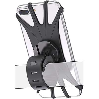 Bovon Bike Phone Mount, 360 Rotation Silicone
