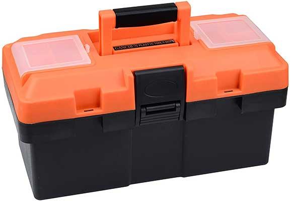Plastic Tool Box, 14-inch Portable Tool Box Plastic