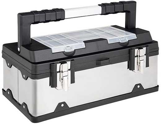Goplus Portable Tool Box Lockable