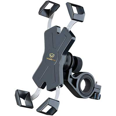 visnfa New Bike Phone Mount with Stainless Steel Clamp