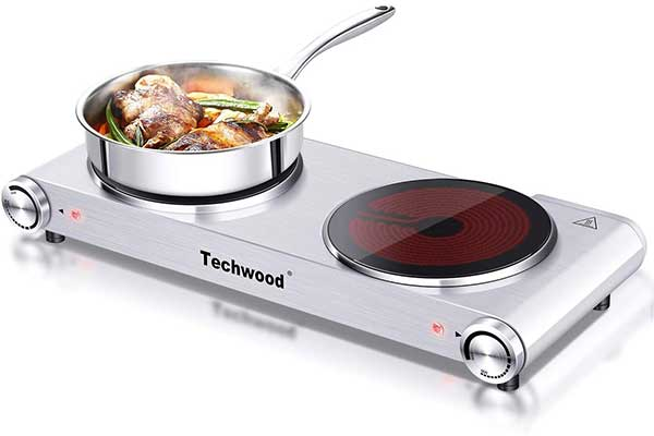 Techwood 1800W Electric Hot Plate, Countertop Stove