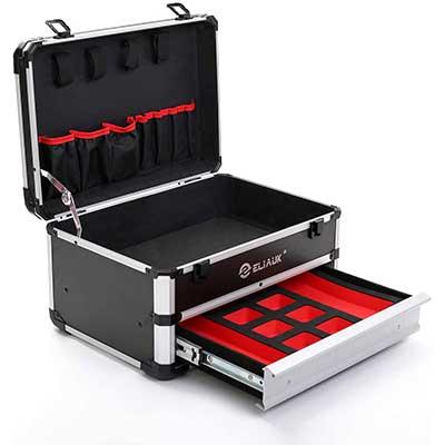 ELIAUK Portable Aluminum ToolBox with Drawer
