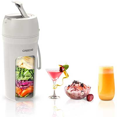 GREECHO Portable Blender, One-handed Drinking